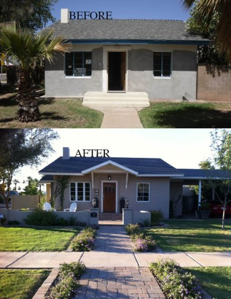 Our 1916 Bungalow Before and After