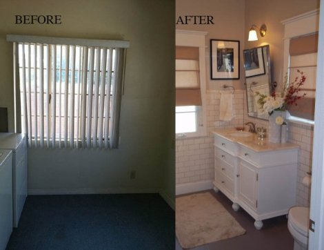 Subway Tile Bathroom Before and After