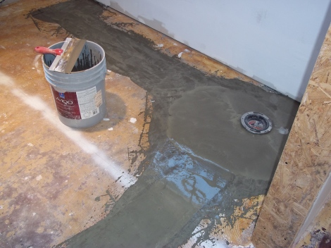 New plumbing for guest bathroom