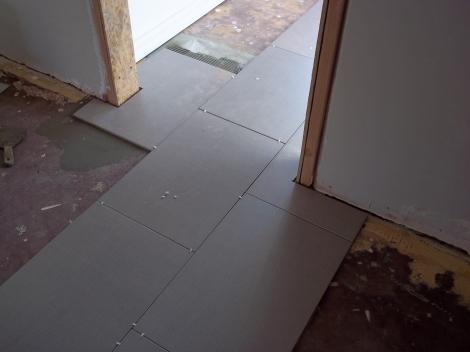 """""""Linen"""" tile going in"""