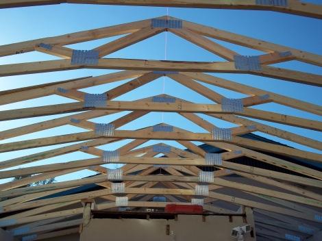 Carport roof in progress
