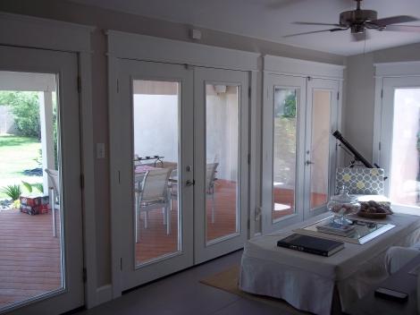Door and trim, tile installation