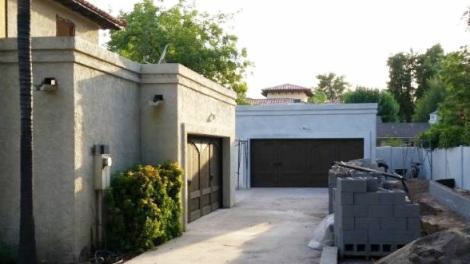 Both garage doors after