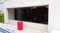 Removing original garage door